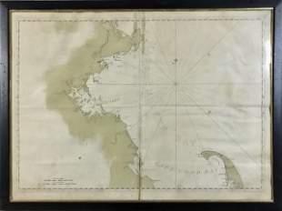 1776 Rev. War Massachusetts Bay Map, Des Barres