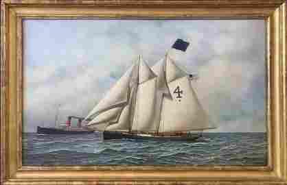 Painting, Oil on Canvas, Antonio Jacobsen, 1900