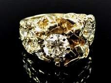 Men's 14K Gold, Diamond Ring