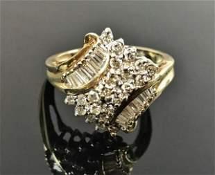 Ladies 14K Gold, Diamond Ring