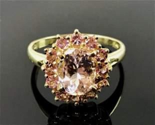 Ladies 14K Gold Tourmaline Ring