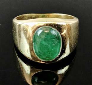 Ladies 14K Gold Emerald Ring