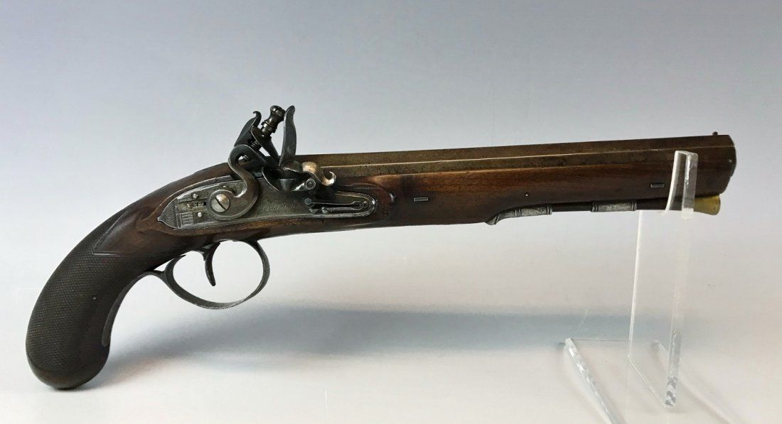 Circa 1815 British Flintlock Coat Pistol, I. Field