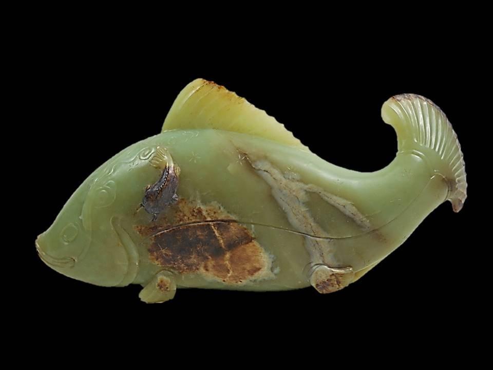 Large Jade Fish Figure