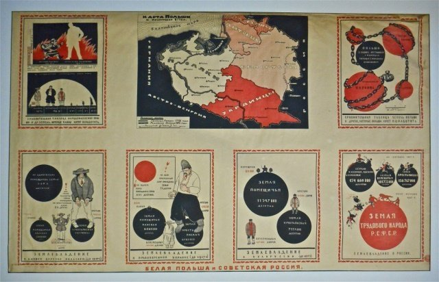 Russian Civil War Propaganda Poster, 1920