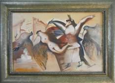 Three 20th C Russian Paintings