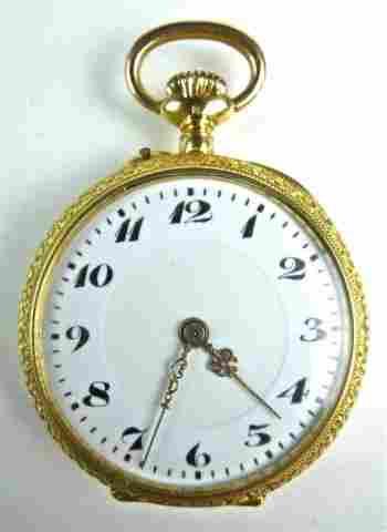 18K Gold European Pocket Watch