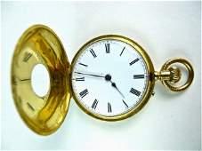 18K Gold Swiss Pocket Watch, Courvosier Freres