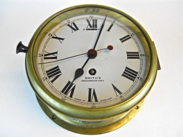 English 8-Day Ship's Clock, Smith's Cricklewood