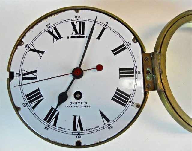 English 8-Day Ship's Clock, Smith's Cricklewood - 2