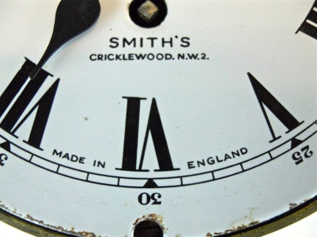English 8-Day Ship's Clock, Smith's Cricklewood - 3