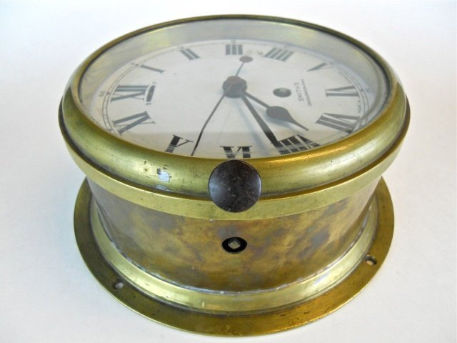 English 8-Day Ship's Clock, Smith's Cricklewood - 4