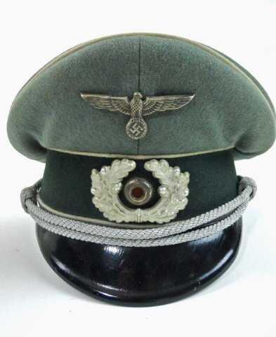 4a9ae365add WWII German Wehrmacht Officer s Visor Hat