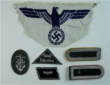 WWII German Cloth Insignia Group (6pc)
