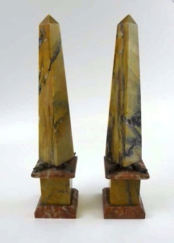 Pair of 18th C. French Marble Obelisks