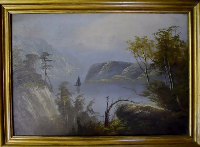 19th C. Hudson River Valley School, Oil on Canvas