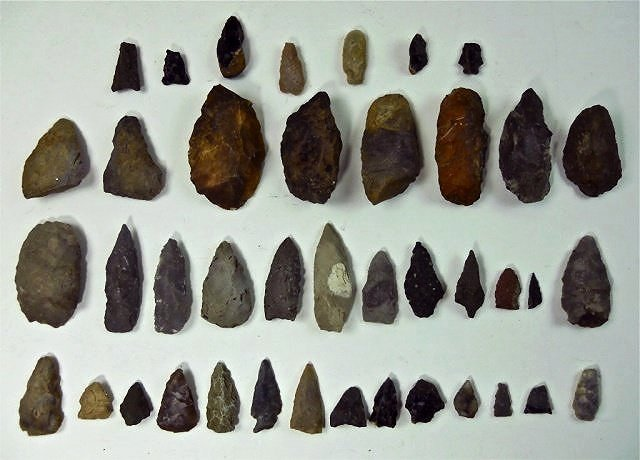 American Indian Stone Artifacts, Cohasset (41pc)