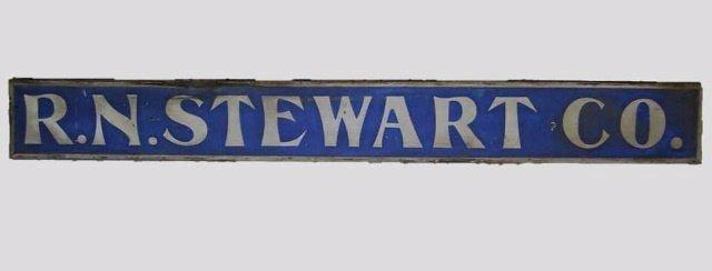 Hand Painted Wood Sign, R. N. STEWART CO