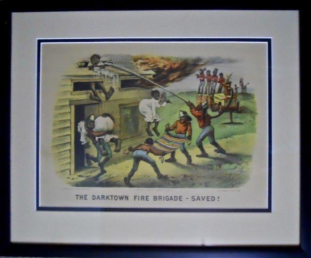 Currier and Ives, Darktown Fire Brigade - Saved