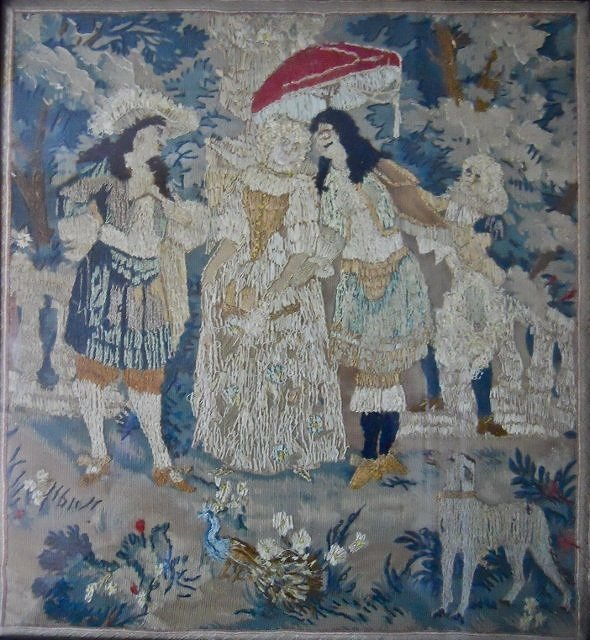 18th C. Continental Embroidered Textile