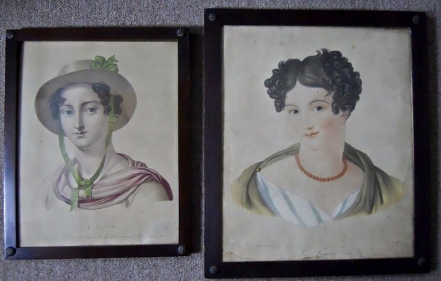 Two French 19th C. Engravings, Cardon and Bertrand