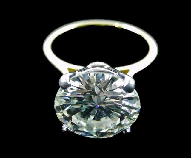 18K Gold Diamond Solitaire Ring, 4.21 cts, SI1, K