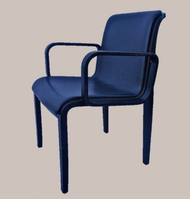 Six Modern Bill Stephens Bentwood Chairs, Knoll