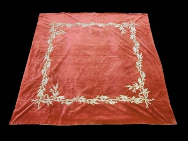 Antique Continental Velvet Wall Hanging