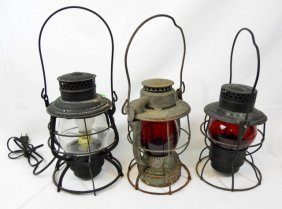 Nycs And Ri Co. Railroad Lanterns (3pc)