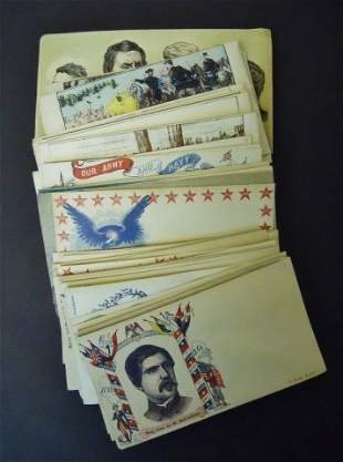 Collection of Sixty Civil War Patriotic Envelopes