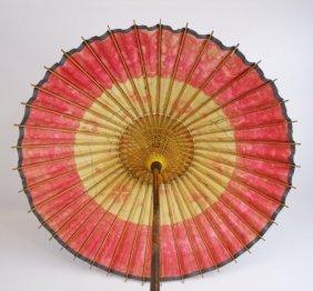 Antique Meiji Period Japanese Bamboo Parasol