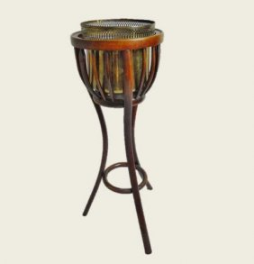 Antique English Bent Wood Plant Stand
