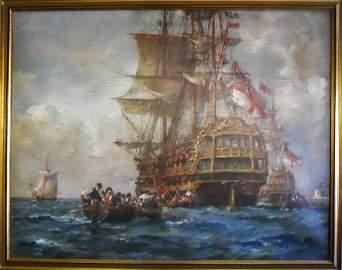 Oil on Canvas, Bernard F. Gribble (1873-1962)