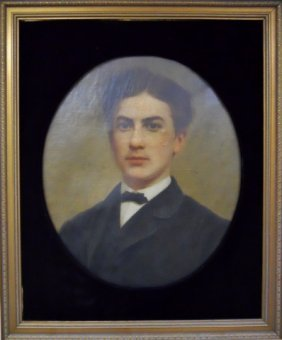 Early 20th C. Oil On Canvas, Portrait Of Gentleman