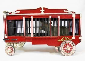 Vintage Model Circus Menagerie Wagon