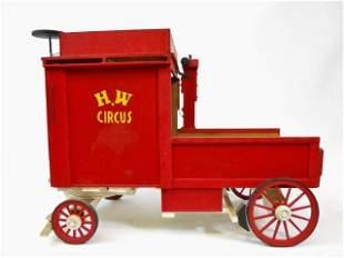 Vintage Haggenbeck-Wallace Model Circus Wagon
