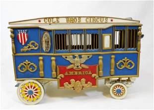 Vintage Cole Bros. Model Circus Wagon