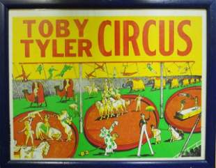 Vintage Toby Tyler Circus Posters (9)