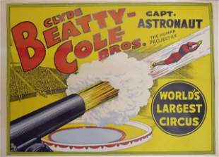 Vintage Clyde Beatty-Cole Bros Circus Posters (30)