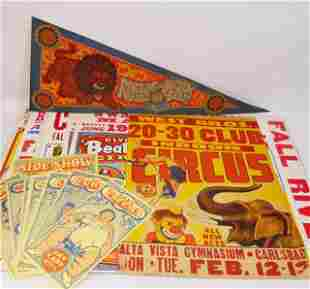 Collection of Vintage Circus & Carnival Items