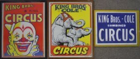 Vintage King Bros. Framed Circus Posters (6)