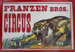 Collection of Vintage Framed Circus Posters (7)