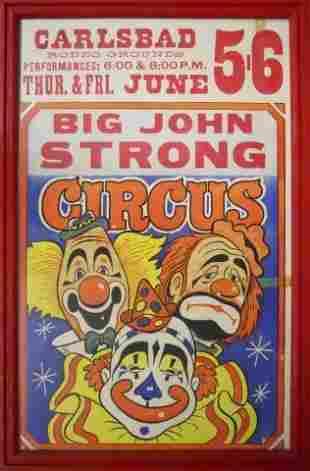 Vintage Big John Strong Circus Posters (3)