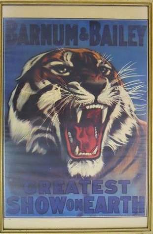 Vintage Ringling Bros. Framed Circus Posters (10)