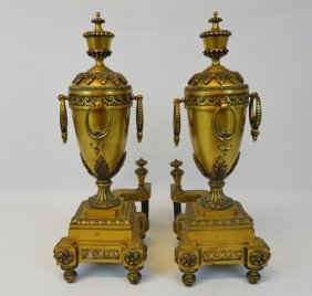 19th C. Louis Xvi Style Chenets (andirons)