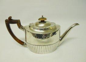 Sterling Silver Georgian Teapot, 1799, London