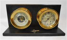 Ship's Bell Clock and Barometer, Chelsea Clock Co.