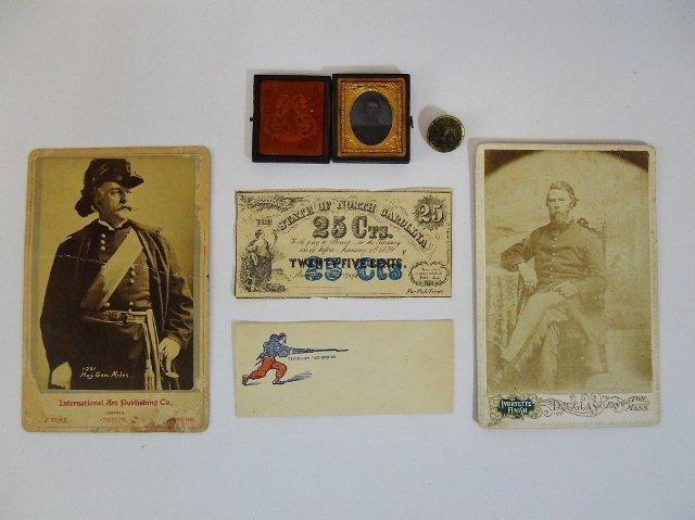 Civil War Era Photographs and Ephemera (6 pc)