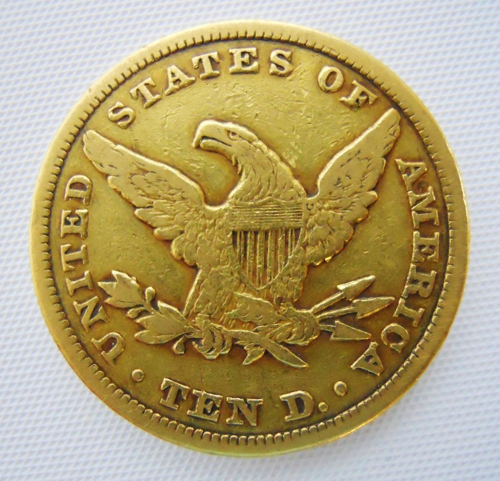 U.S. 1848 Liberty $10 Gold Coin - 2