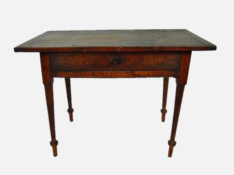19th C. New England Tiger Maple Tavern Table